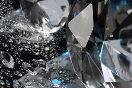 crystal and liquid