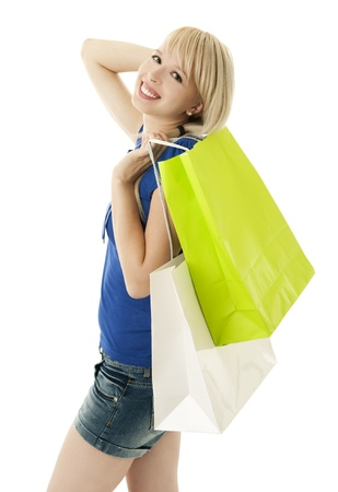 happy shopper Stock Photo - 8954210