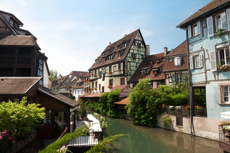 canal in Colmar, France Stock Photo