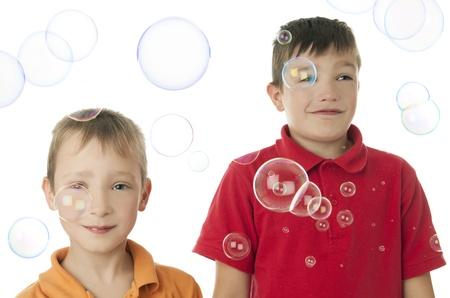burbujas de jabon: pompas de jab�n Foto de archivo