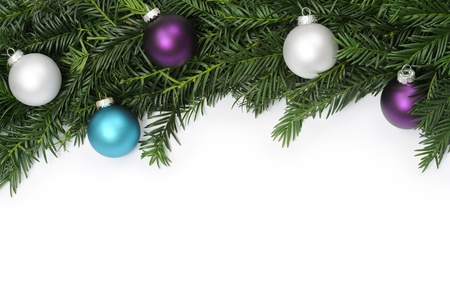 abetos: Marco de la Navidad