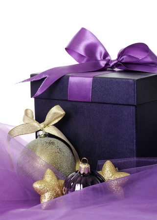 purple stars: christmas present