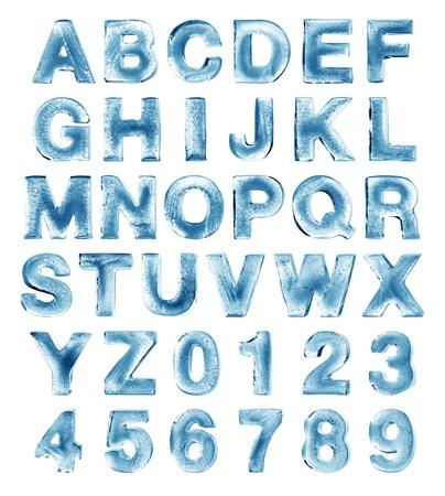 abecedario: hielo alfabeto