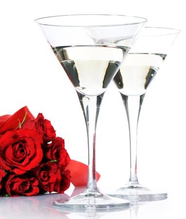 romantic toast Stock Photo