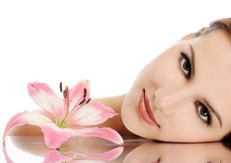 mooie vrouwen: mooi gezicht Stockfoto