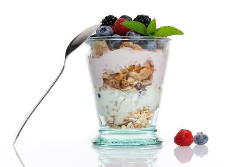 yogur: postre saludable Foto de archivo