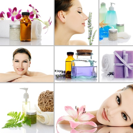 aroma facial: beauty spa collage