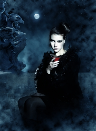 fantasy girl: beautiful vampire