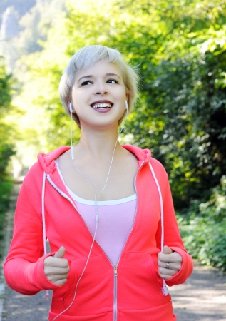 jogging in the park photo