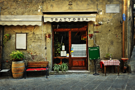 old building facade: italian restaurant