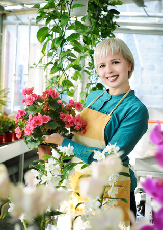 cheerful florist photo