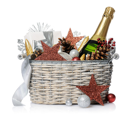 gift basket: New year gift Stock Photo
