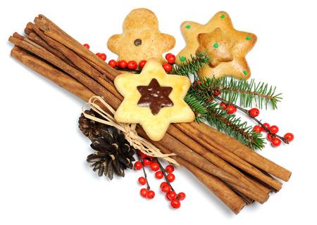 fir twig: Christmas cookies