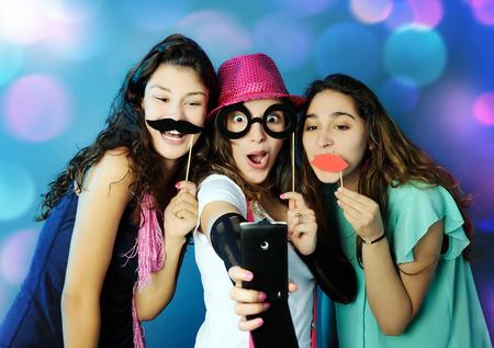 grappige meisjes Stockfoto