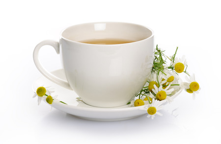 chamomile tea: cup of chamomile tea Stock Photo