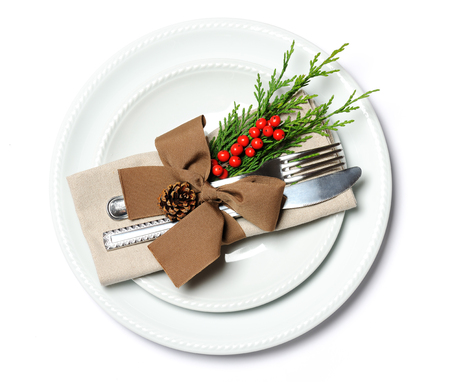 place setting: christmas place setting Stock Photo
