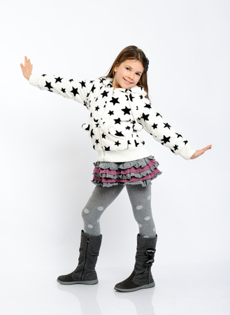 children clothing: pretty girl in a winter clothes