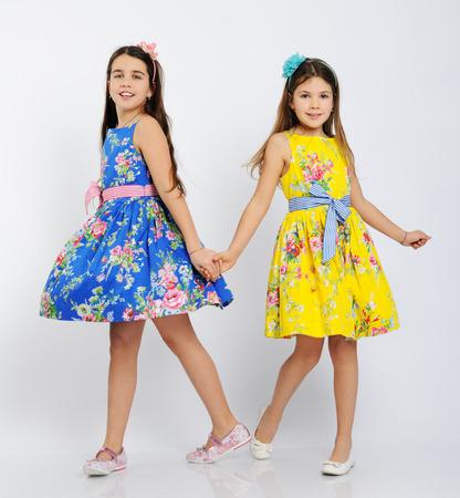 posing: pretty dancing girls Stock Photo