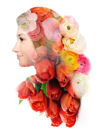 tulipan: kwiatowy portret Zdjęcie Seryjne
