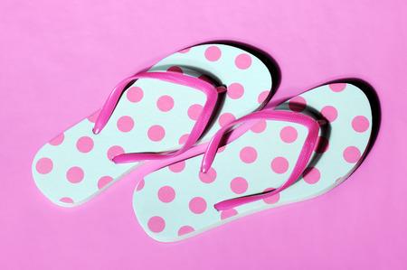 flip flops: pink flip flops Stock Photo