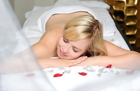 salon and spa: in spa salon Stock Photo