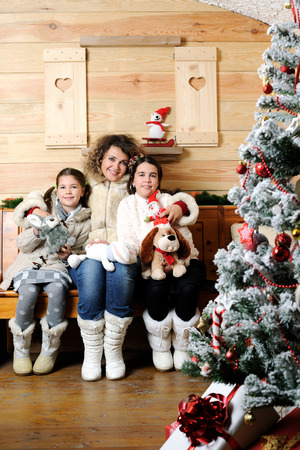 family portrait: christmas family portrait