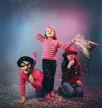 kids dress: funny carnival portrait