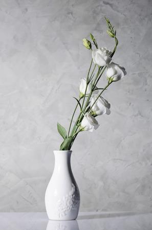 beautiful flowers in white vase