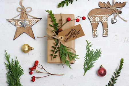 christmas items arrangement Stok Fotoğraf