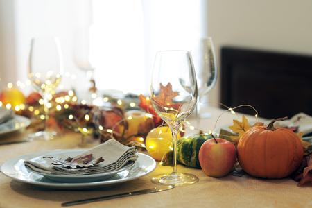ajuste de la mesa de acción de gracias