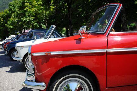 outdoor italian retro cars exhibition