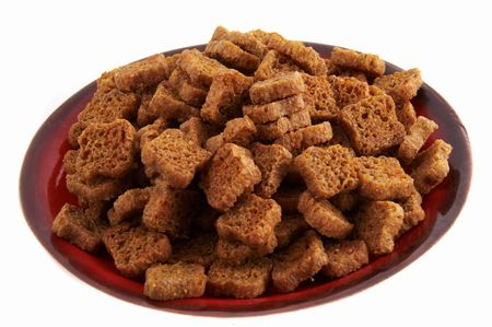 croutons:  bread croutons Stock Photo