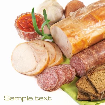 Ham and sausage Stock Photo