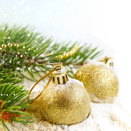 Gold Christmas balls  Stock Photo - 10770983