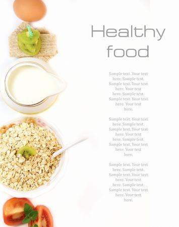 comidas saludables: Concepto de comidas saludables  Foto de archivo