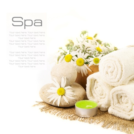 Spa set on a white background