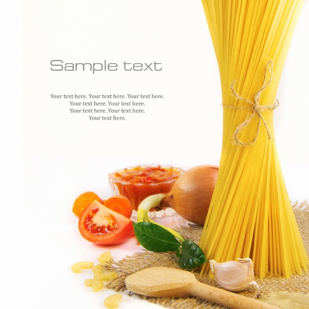 Pasta and food ingredients Stock Photo - 11101535