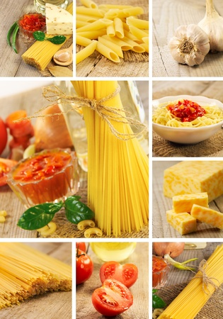 Pasta and food ingredients photo