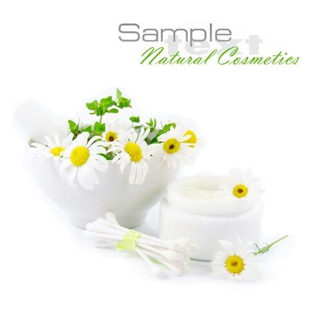organic cotton: Cosmetici naturali Archivio Fotografico