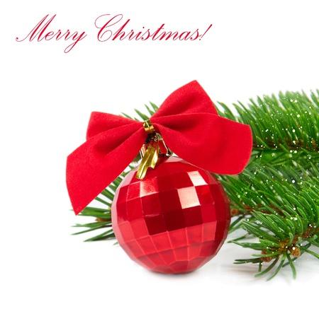Red Christmas ball Stock Photo - 11369608