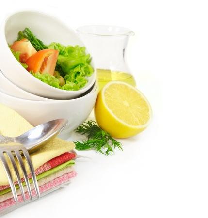 Healthy vegetable salad photo