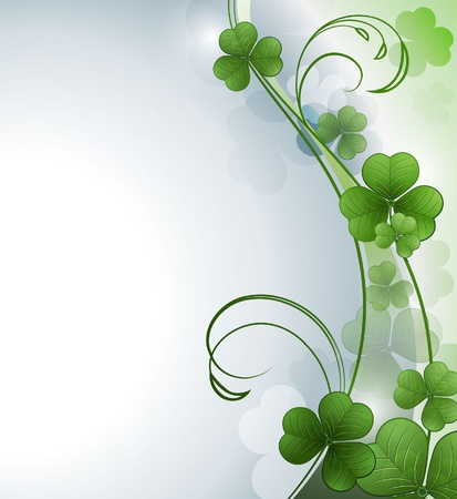 leafed: Vector background with a clover