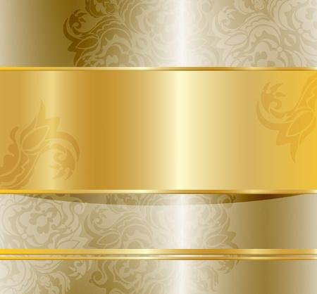 dorato: Abstract floral colore di sfondo dorato