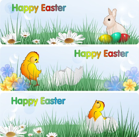 Easter Banners, eps10 format  Illustration