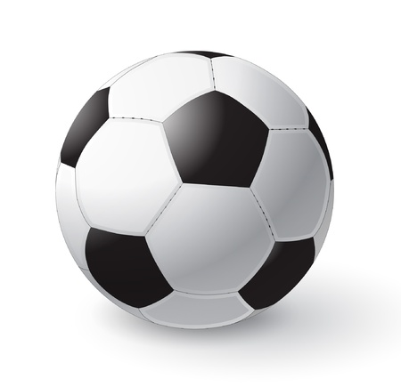 vector soccer ball isolated on white, eps10 format