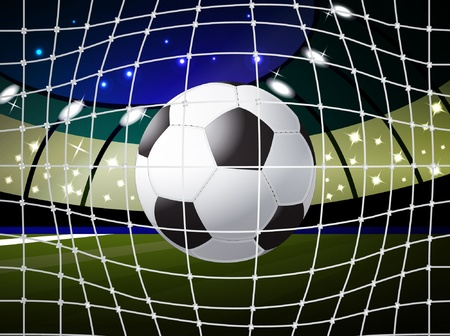 soccer ball into the gate, eps10 format