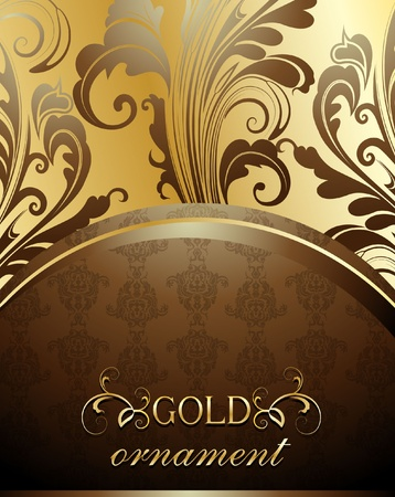 Decorative golden background Vector