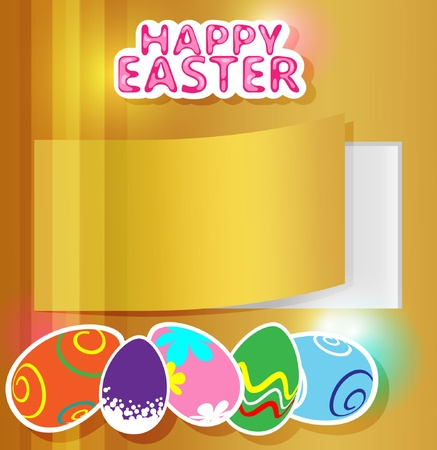 Greeting card for Easter with eggs