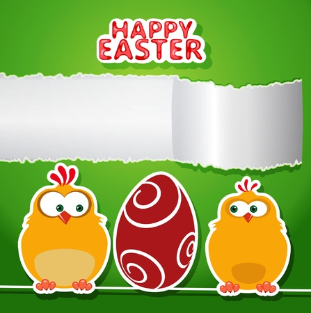 Happy Easter  Greeting card  Illustration