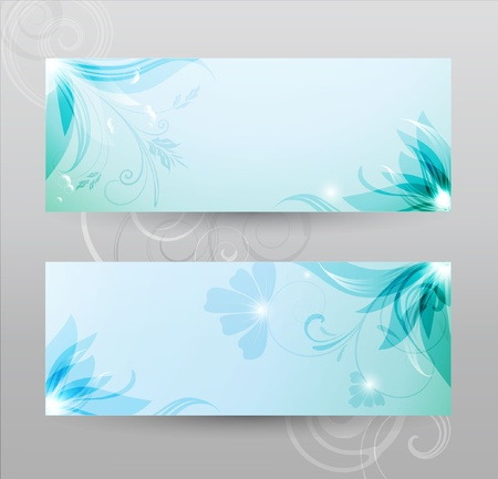 Transparent floral  background